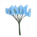 Foam Calla Lilies - Blue (Bunch of 12)