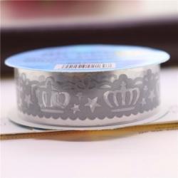 Self-adhesive Lace roll - Matt Silver (14mm x 1m)
