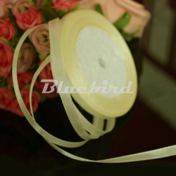 6mm Satin Ribbon - Lemon (25 yards)