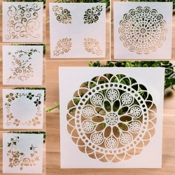 13 x 13cm Reusable Stencil - Floral Assortment (7pcs)