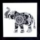 Medium Reusable Stencil - Elephant (1pc)