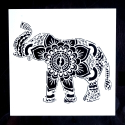 Medium Reusable Stencil - Elephant (1pc)