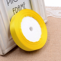 6mm Satin Ribbon - Yellow (25 yards)