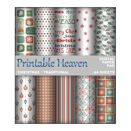 Download - Digital Paper Pad - Christmas - Traditional