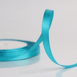 6mm Satin Ribbon - Teal (25 yards)