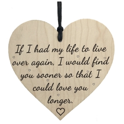 Wooden sign - Love you longer (1pc)