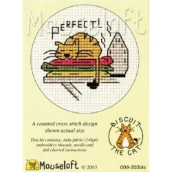 Mouseloft Cross Stitch - Biscuit the Cat, Perfect!