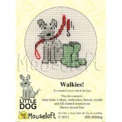 Mouseloft Cross Stitch - Little Dog, Walkies
