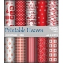 Download - Digital Paper Pad - Christmas - Red