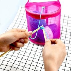 Yarn & String Organiser - Fuchsia