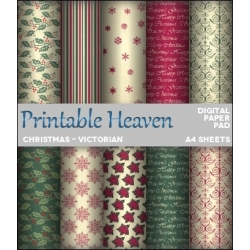 Download - Digital Paper Pad - Christmas - Victorian
