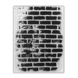 Clear Stamp - Small Rustic Brick Wall (1pc)