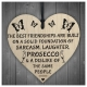 Wooden sign - Sarcasm, Laughter & Prosecco (1pc)