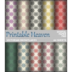 Download - Digital Paper Pad - Victorian Snowflakes