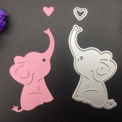 Printable Heaven dies - Elephant with Heart (2pcs)