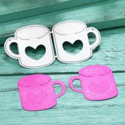 Printable Heaven dies - Pair of Heart Mugs (2pcs)