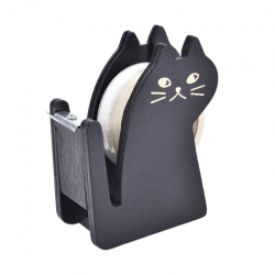 Wooden Cat Tape Dispenser - Black