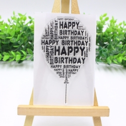 Clear Stamp - Happy Birthday Balloon (1pc)