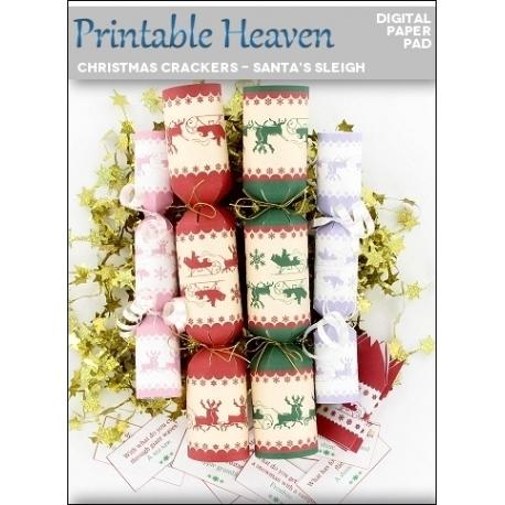Download - Digital Paper Pad - Christmas Crackers - Santa's