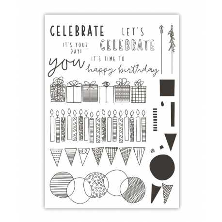 Clear Stamp - Birthday Celebration (20pcs)