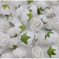 Stemless Foam Rose-heads - White (50pcs)