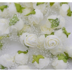 Stemless Foam Rose-heads - Cream (50pcs)