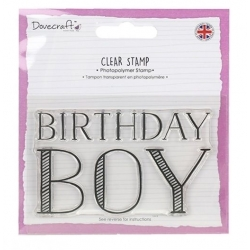 Dovecraft Birthday Boy Clear Stamp (DCSTP111)