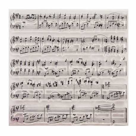 Clear Stamp - Music Background (1pc)