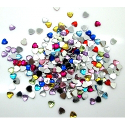 6mm Heart Gems Assorted (1000)