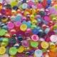 6mm Iridescent Half-beads - Multi (100 pack)