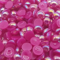 6mm Iridescent Half-beads - Purple (100 pack)