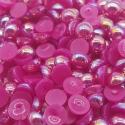 6mm Iridescent Half-beads - Purple (100 pack)