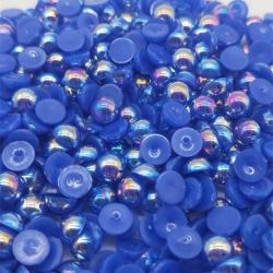 6mm Half-beads - Royal Blue Iridescent (100 pack)