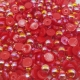6mm Iridescent Half-pearls - Red (100 pack)