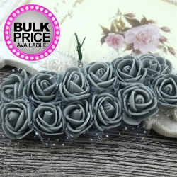 Foam Roses - Grey (Bunch of 12)