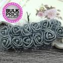 Foam Roses - Grey (Bunch of 12)