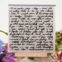 Clear Stamp - Script Background (1pc)