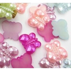 Pearl Butterflies Pastel Multi (100pcs)