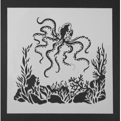 Reusable Stencil - Octopus (1pc)
