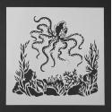 13 x 13cm Reusable Stencil - Octopus (1pc)