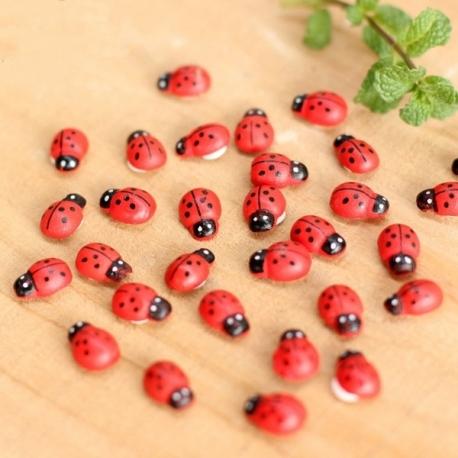 Wooden Mini Ladybirds big pack (100pcs)