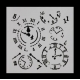 Reusable Stencil - Clocks (1pc)