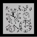 13 x 13cm Reusable Stencil - Clocks (1pc)
