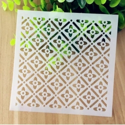 13 x 13cm Reusable Stencil - Moroccan Flower Pattern (1pc)
