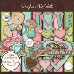 Download - Valentine Cupid 1 Digital Scrap Kit