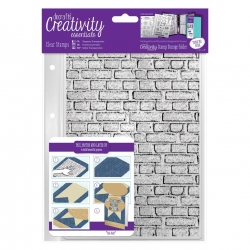 A5 Clear Background Stamp (1pc) - Brickwork Background (DCE