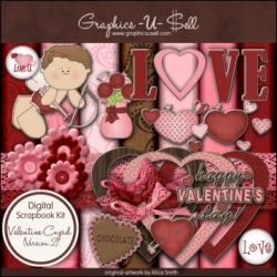 Download - Valentine Cupid 2 Digital Scrap Kit