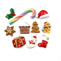 Resin Christmas/Halloween Asst (10pcs)