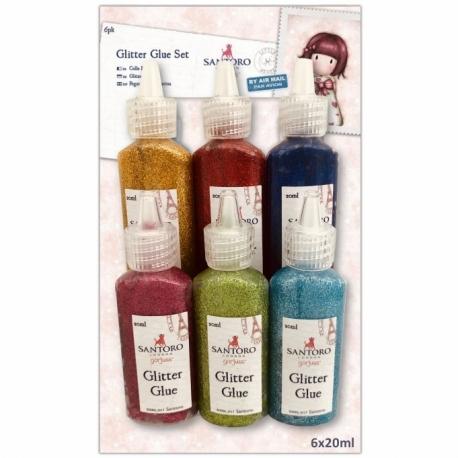Glitter Glue Set (6pk) - Santoro (GOR 462205)