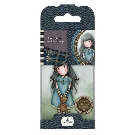 Collectable Rubber Stamp - Gorjuss No. 4, Forget-me-Not (GOR